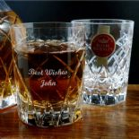 Royal Brierley Personalised Whisky Glass Harris Crystal ref RBHW